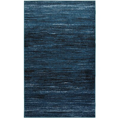 Rockford Blue Area Rug Rug Size: 52 x 72