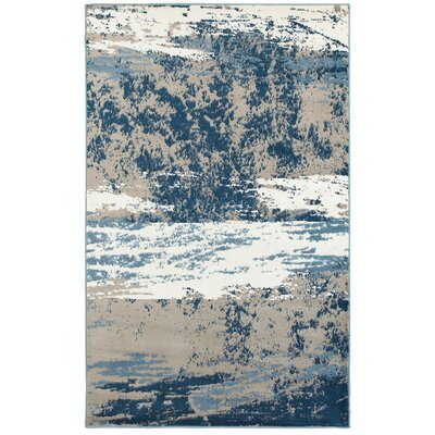 Rockford Blue/Taupe Area Rug Rug Size: Rectangle 79 x 95