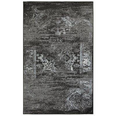 Rockford Black Area Rug Rug Size: 79 x 95
