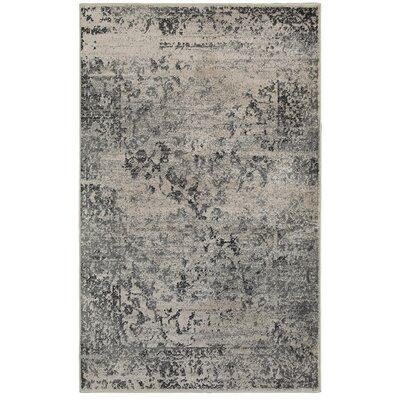 Rockford Black/Gray Area Rug Rug Size: 52 x 72