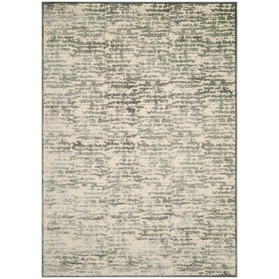 Arlette Green/Beige Area Rug Rug Size: Rectangle 8 x 112