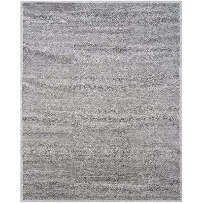 Lidia�dia Hand-Knotted Gray Area Rug Rug Size: 8 x 10
