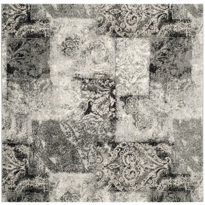 Claghorn Area Cream/Gray Rug Rug Size: Square 6'