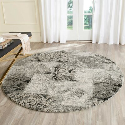 Lambert Area Cream/Gray Rug Rug Size: Rectangle 5 x 8