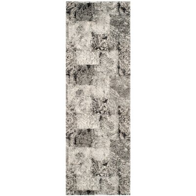 Lambert Area Cream/Gray Rug Rug Size: Rectangle 26 x 4