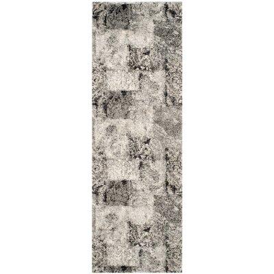 Lambert Area Cream/Gray Rug Rug Size: Rectangle 2'6