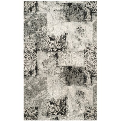 Lambert Area Cream/Gray Rug Rug Size: Rectangle 3 x 5