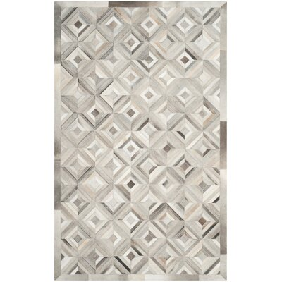 Cartwright Hand-Woven Gray Area Rug Rug Size: 8 x 10