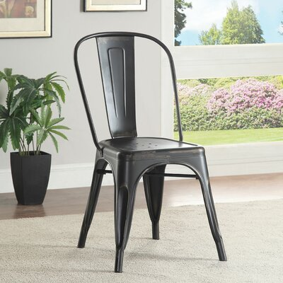 Fortier Side Chair Finish: Black