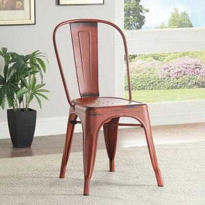 Jolene Side Chair Finish: Red