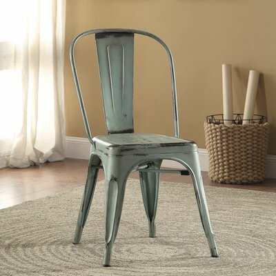 Fortier Side Chair Finish: Blue