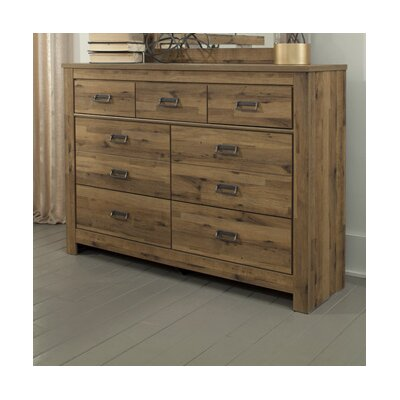 Gigi 7 Drawer Dresser with Mirror
