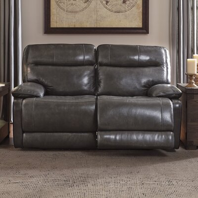 Gigi Leather Reclining Loveseat Type: Manual