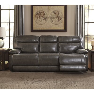 Gigi Leather Reclining Sofa Type: Power