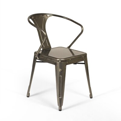 Racheal Arm Chair Finish: Gunmetal