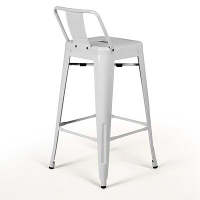 Nolan 30 Bar Stool Finish: White