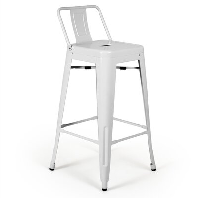 Nolan 26 Bar Stool Finish: White