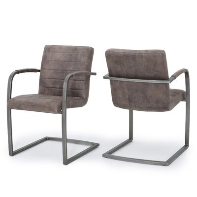 Towaoc Modern Armchair Upholstery: Gray Brown