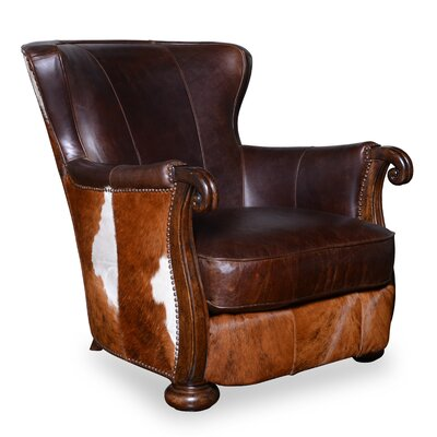 Blondell Hide Wingback Chair