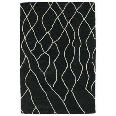 Adrianne Charcoal Geometric Area Rug Rug Size: Rectangle 96 x 136