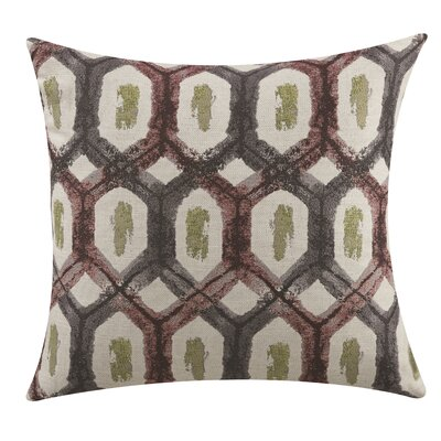 Sapulpa Throw Pillow Color: Red/Gray