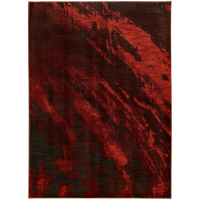 Modrest Red/Gray Area Rug Rug Size: 53 x 76