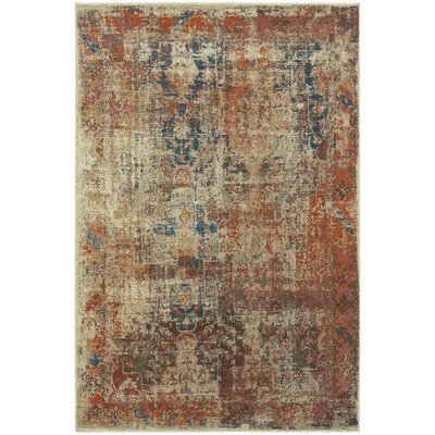 Kamala Machine Woven Orange/Brown Area Rug Rug Size: 910 x 1210
