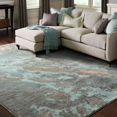 Haugan Blue Area Rug Rug Size: Rectangle 110 x 3