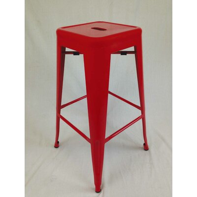 Abron 30 Bar Stool (Set of 4) Upholstery: Red