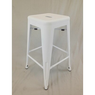 Abron 30 Bar Stool (Set of 4) Upholstery: White