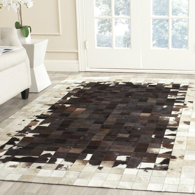 Sequoyah Ivory / Dark Brown Geometric Rug Rug Size: 5 x 8