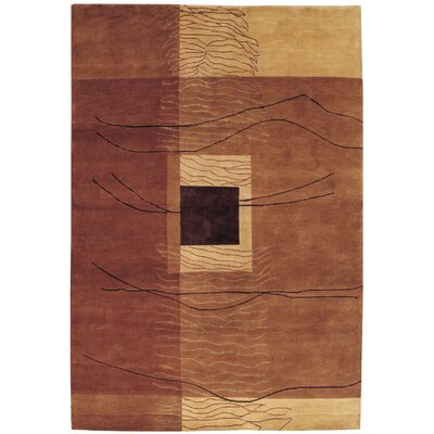 Vernon Grotto Hand-Knotted Burnished Earthtones Area Rug