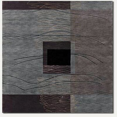 Fitchburg Hand-Knotted Gray Area Rug