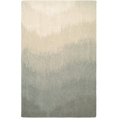 Leandre Hand-Woven Gray/Beige Area Rug Rug Size: Rectangle 36 x 56