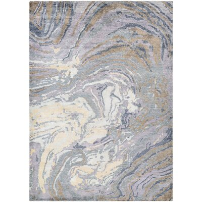 Romantica Muscle Shell Hand-Knotted Pearl Area Rug Rug Size: 96 x 136
