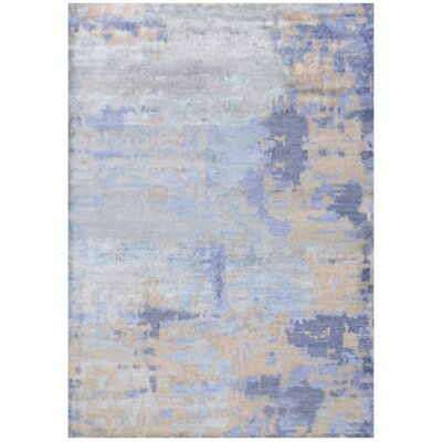 Mumford Faux Hand-Knotted Azure Area Rug Rug Size: Rectangle 56 x 8