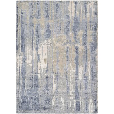 Durrant Hidden Forest Hand-Knotted Pearl/Slate Area Rug Rug Size: Rectangle 96 x 136