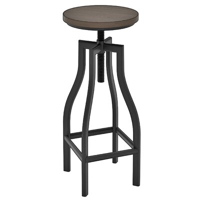 Denis Adjustable Height Swivel Bar Stool