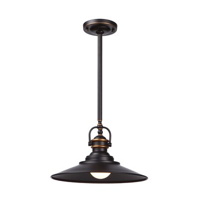 Lunz 1-Light Pendant Finish: Rich Bronze