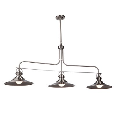 Jennifer 3-Light Kitchen Island Pendant Finish: Satin Nickel