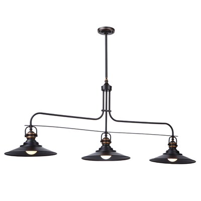 Lunz 3-Light Kitchen Island Pendant Finish: Rich Bronze