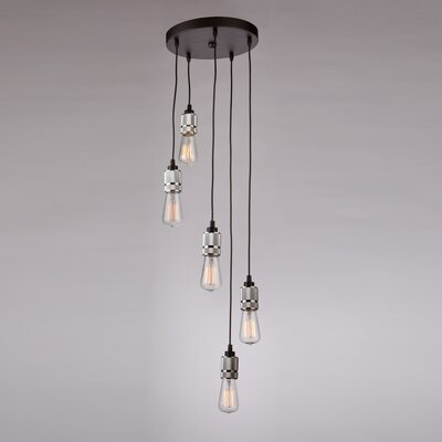 Gilfillan 5-Light Cascade Pendant Finish: Chrome