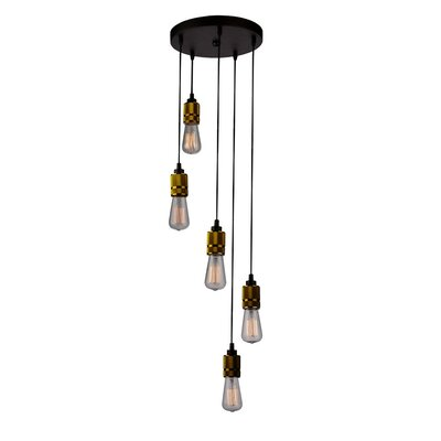 Michelle 5-Light Cascade Pendant Finish: Vintage Brass