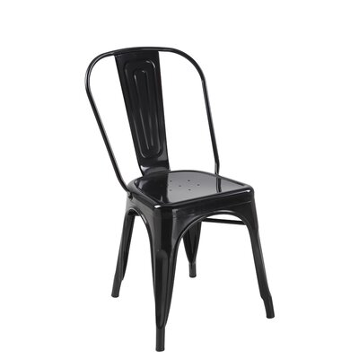 Torrance Side Chair (Set of 4) Finish: Black
