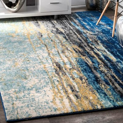 Stevensville Blue Area Rug Rug Size: Rectangle 67 x 9