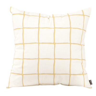 Wicker Throw Pillow Color: Citron