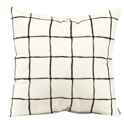 Wicker Throw Pillow Color: Onyx