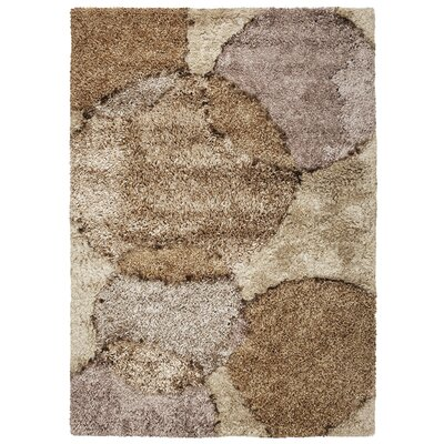 Laurel Orbit Brown Area Rug Rug Size: 76 x 96