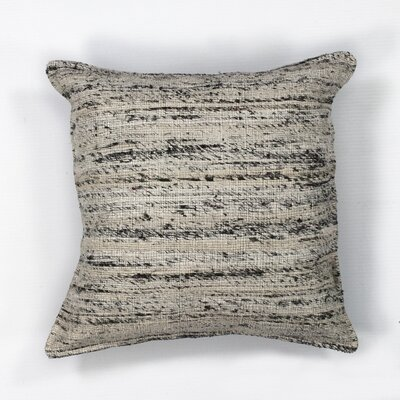 Amy Woven Viscose Throw Pillow Color: Black/White