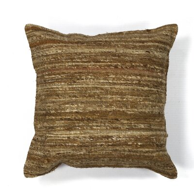 Amy Woven Viscose Throw Pillow Color: Beige